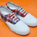 【鞋子】紅色格仔布鞋 – SKONO UNISEX 系列 AML9054SK91
