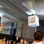 ASUS Zenfone Zoom 發佈會的抽奬方式 – 無人機飛行掃 QR Code