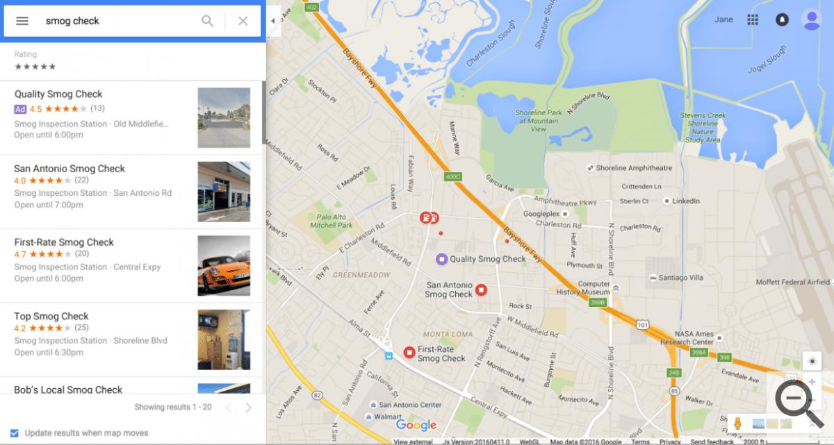 google map ads smaple 2