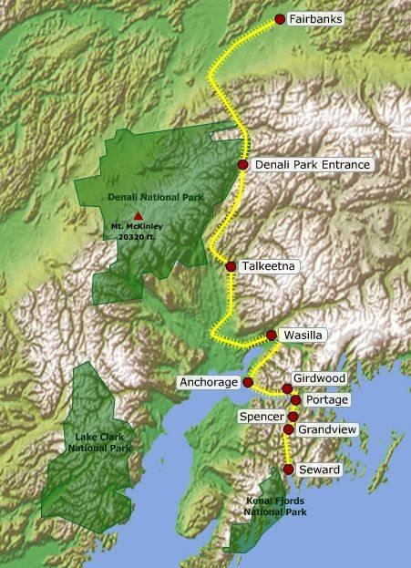 alaska train map