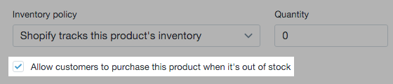 pre-order-inventory-policy