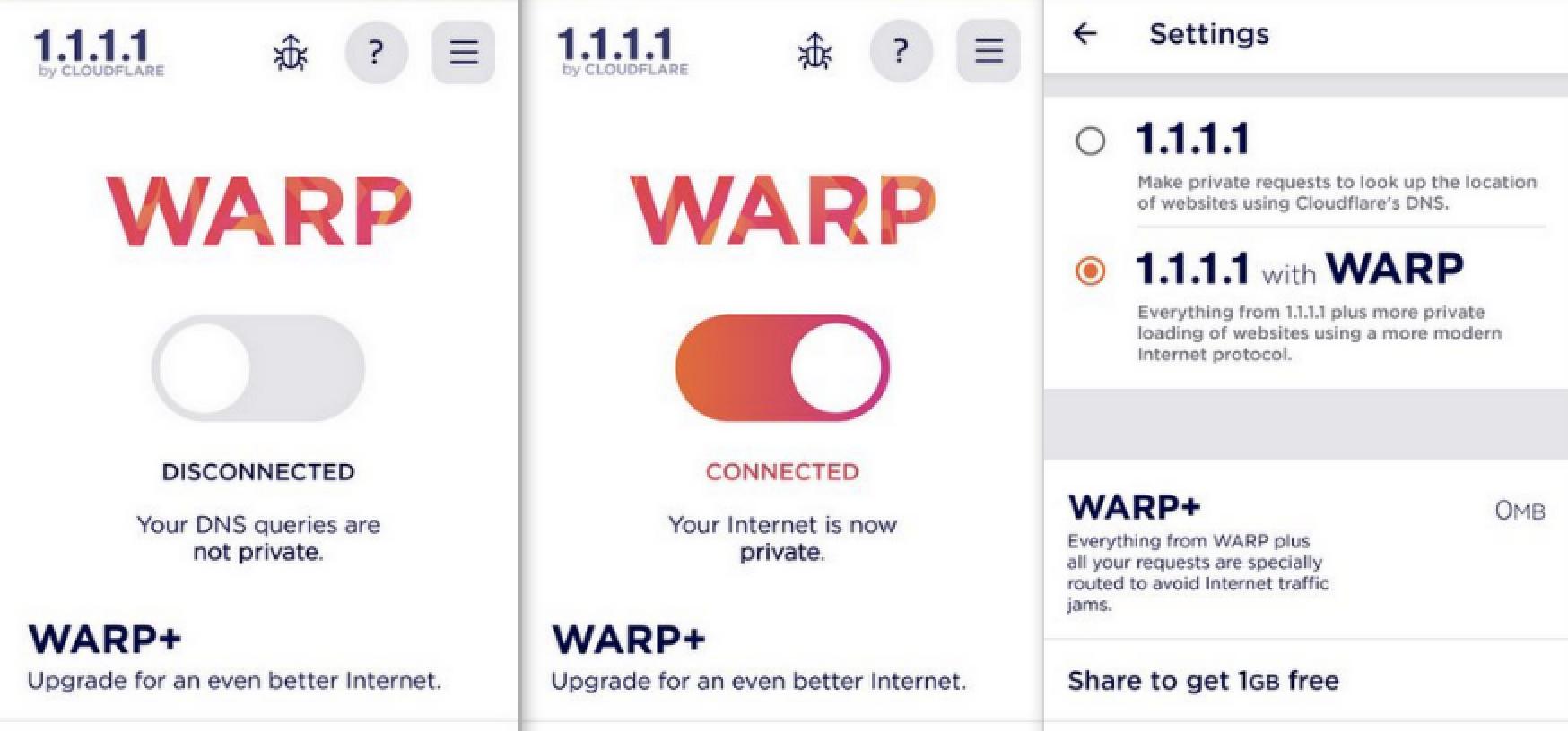 Cloudflare 免費 VPN 1.1.1.1. + Warp 終於推出,Android、iPhone 有 App 即時下載